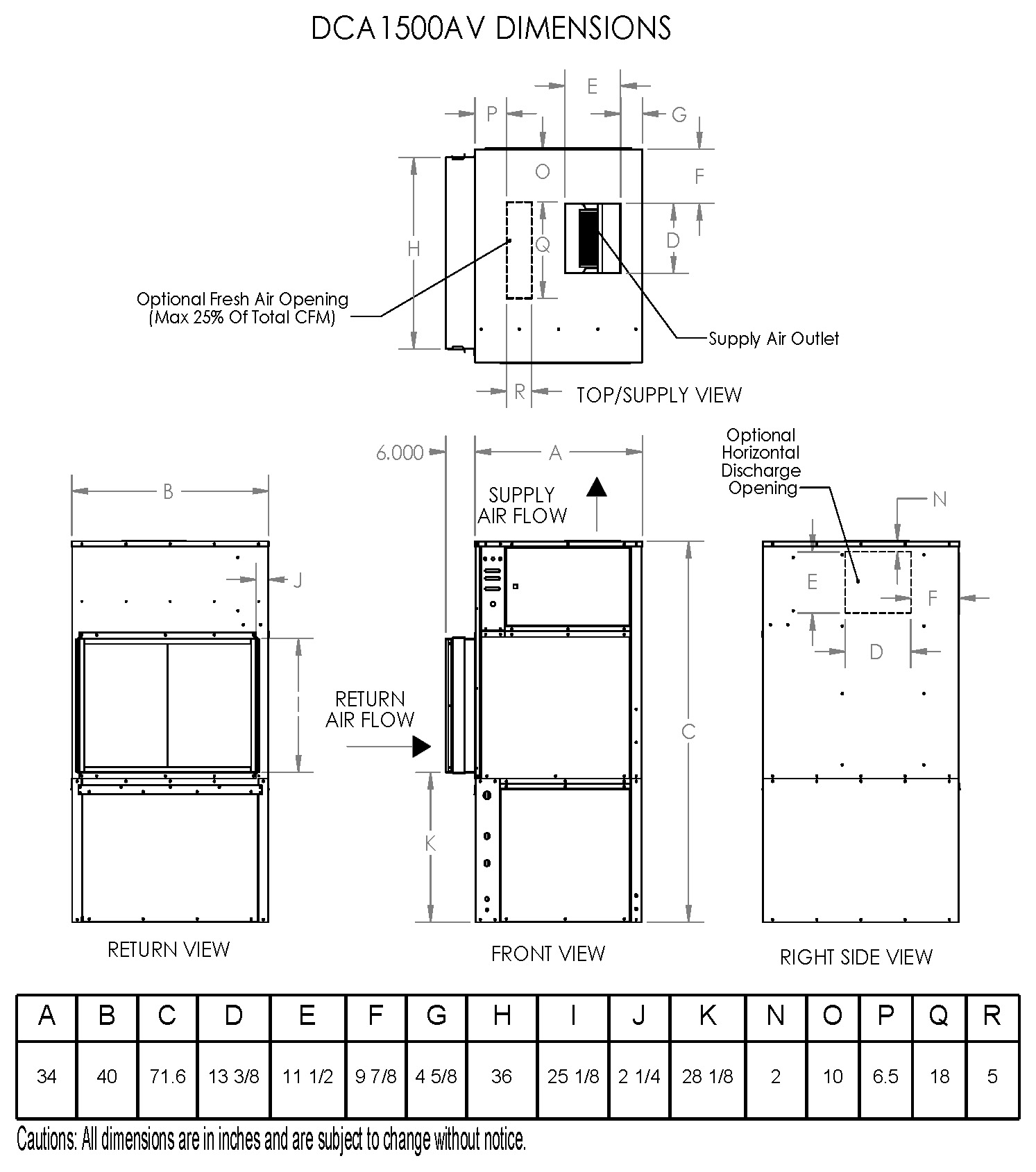 model dca1500av, air cooled non water heating dehumidifier on Timer Wiring Diagram dca 1500tv; 1500av dimensions
