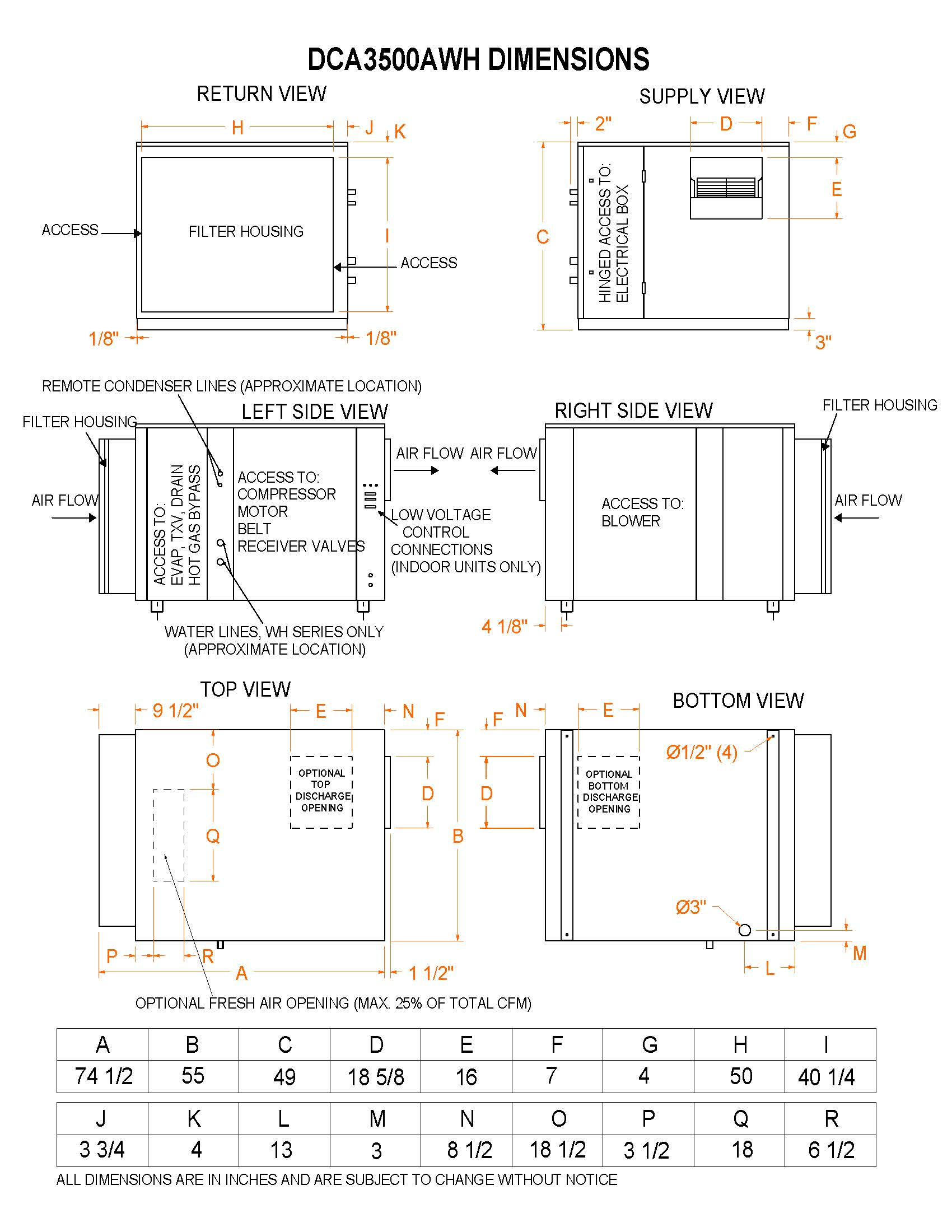 model dca3500awh, water heating assist dehumidifier on Timer Wiring Diagram 3500awh hood dimensions � dca 3500awh dimensions